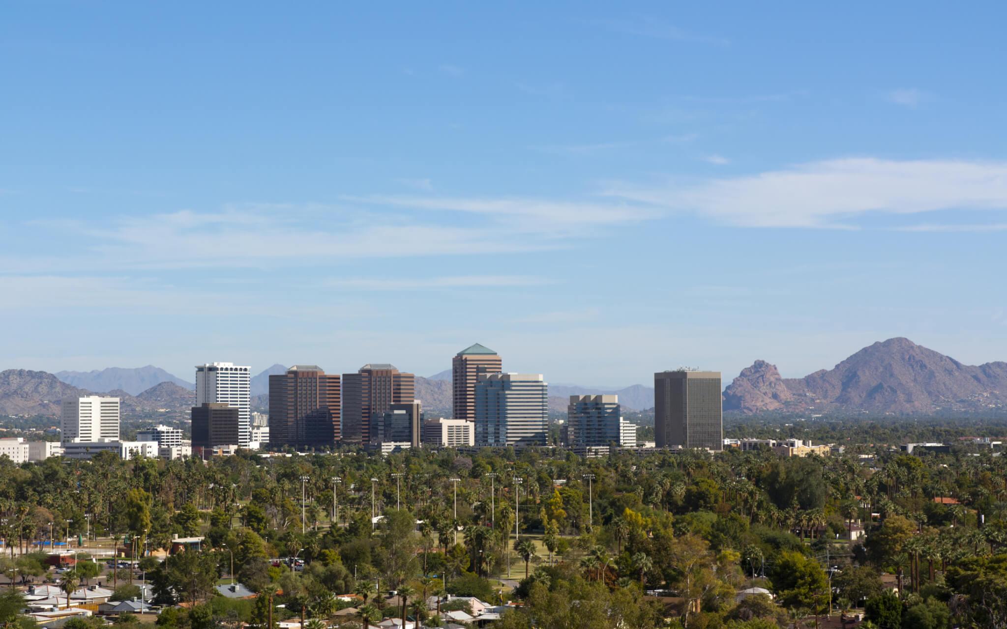 Phoenix Skyline and Mountains