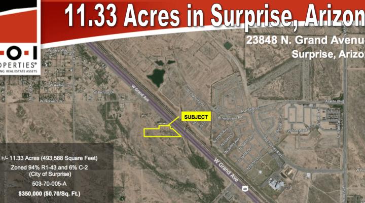 11.33 Acres in Surprise