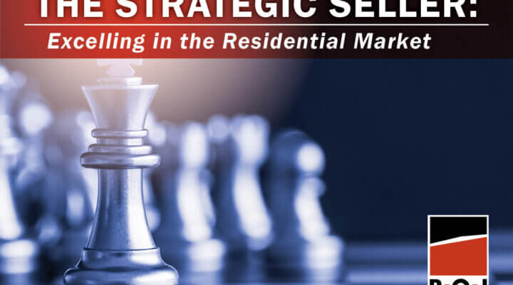 """A Game of Chess with the King advancing and text that reads """"The Strategic Seller: Excelling in the Residential Market"""