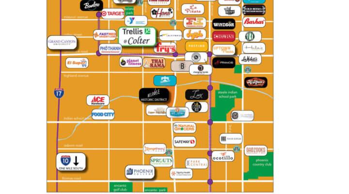 Trellis Blog Amenity Map with Logos