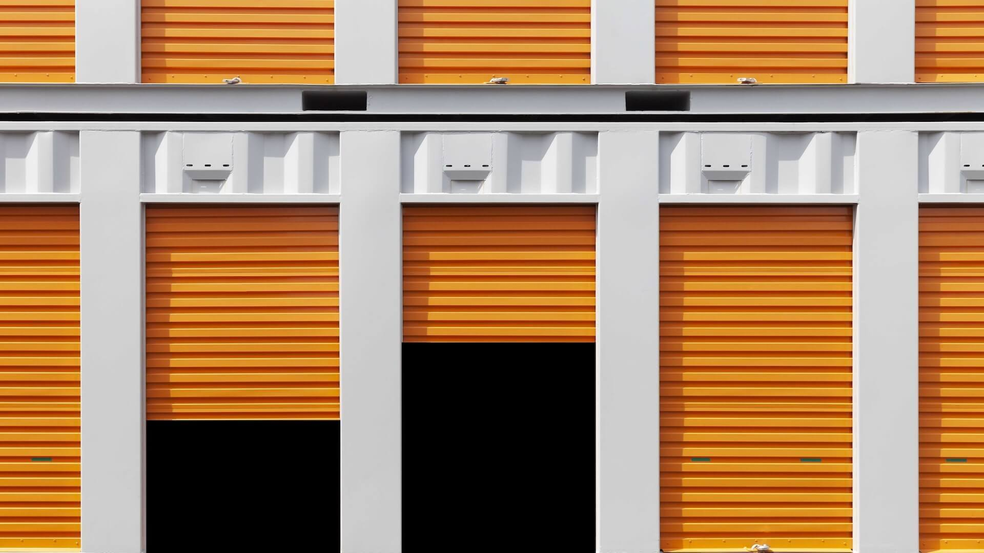Self-Storage Units in a row