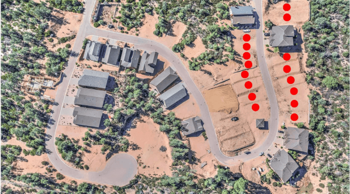 16 Finished Residential Lots in Payson Arizona
