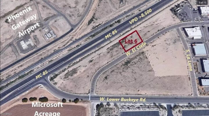 26136 SF Vacant Lot in Goodyear Arizona
