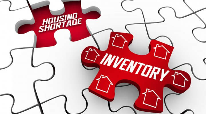 Puzzle piece showing inventory and housing shortage perfect fit