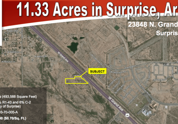 11.33 Acres in Surprise