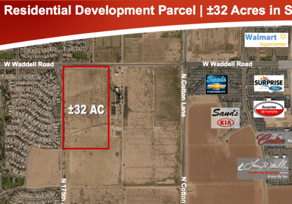 32 Acre Residential Development Parcel Surprise