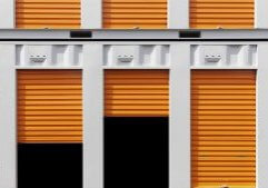 Self-Storage Units in a row
