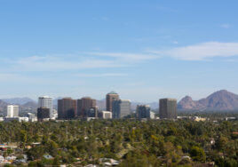 Phoenix Skyline and Mountains